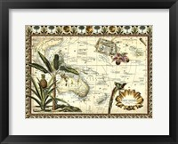 Tropical Map of East Indies Framed Print