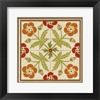 Floral Folk Tile III Framed Print