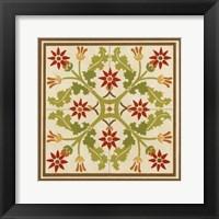Floral Folk Tile IV Framed Print
