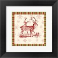 Framed Reindeer Toile I