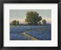Framed Blue Bonnet Field I