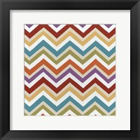 Retro Pattern III Framed Print