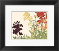 Framed Small Japanese Flower Garden I