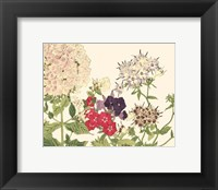 Framed Small Japanese Flower Garden II