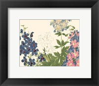 Framed Small Japanese Flower Garden III