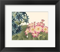 Framed Small Japanese Flower Garden IV