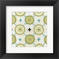 Cottage Patterns III Framed Print