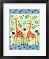 Framed Giraffe Pair