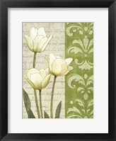 Framed White Tulips