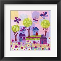 Framed Springtime Houses