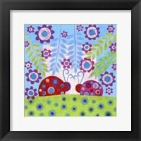 Ladybug Spots Framed Print