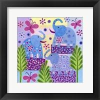 Elephant Sunshine Framed Print