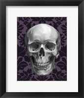 Framed Skull on Damask