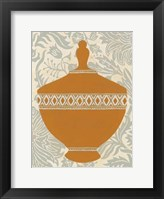 Pottery Patterns I Framed Print