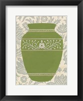 Pottery Patterns III Framed Print