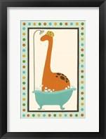 Rub-A-Dub Dino I Framed Print