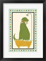Rub-A-Dub Dino II Framed Print