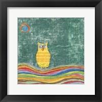 Framed Feathers, Dots & Stripes V