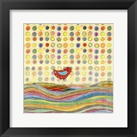 Framed Feathers, Dots & Stripes VII