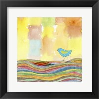 Framed Feathers, Dots & Stripes IX