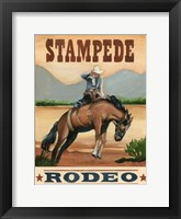 Framed Stampede Rodeo