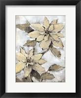 Framed Poinsettia Study I