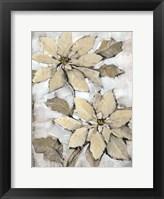 Framed Poinsettia Study II
