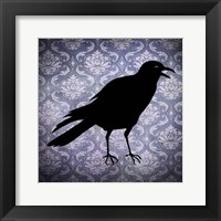 Framed Crow & Damask
