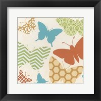 Butterfly Patterns I Framed Print