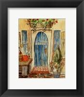 Framed Greek Cafe I