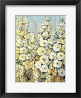 Framed Cluster of Hollyhock I