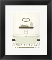 Parisian Bath III Framed Print