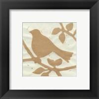 Framed Tea Bird I