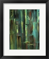 Framed Turquoise Bamboo II
