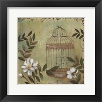 Framed Decorative Bird Cage I