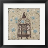 Framed Decorative Bird Cage II