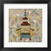 Framed Decorative Bird Cage III