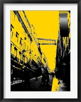 Framed City Street on Yellow