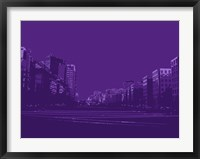 Framed City Block on Purple