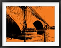 Framed London Bridges on Orange