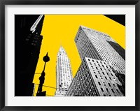 Framed New York on Yellow