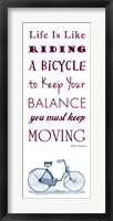 Framed Einstein Bicycle Quote