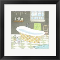 Framed Gold Bath I - Mini