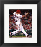 Framed Ryan Zimmerman 2013 batting action