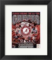 Framed University of Alabama Crimson Tide All Time Greats Composite