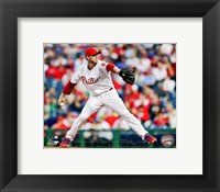 Framed Roy Halladay Baseball Action