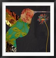 Hummingbird Brocade IV Framed Print