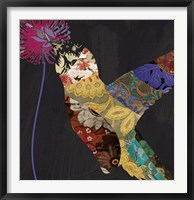 Hummingbird Brocade II Framed Print