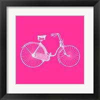 Framed Pink Bicycle