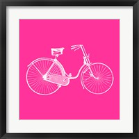 Framed Pink Bicycle